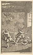 Hudibras Beating Sidrophel and Whachum (Seventeen Small Illustrations for Samuel Butler's Hudibras, no. 12)