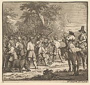 Hudibras First Adventure (Seventeen Small Illustrations for Samuel Butler's Hudibras, no. 2)