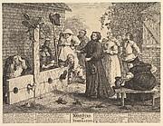 Hudibras in Tribulation (Twelve Large Illustrations for Saumel Butler's Hudibras, Plate 6)