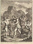 Don Quixote and the Knight of the Rock (Six Illustrations for Don Quixote)