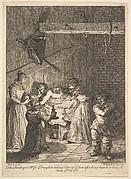 Quixote Being Cared for by the Innkeeper's Wife and Daughter (Six Illustrations for Don Quixote)