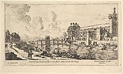 View of the Louvre and the Tuileries, from Views of Paris and Neighborhoods, plate 1