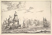 Naval Battle Scene