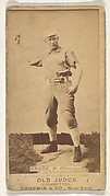 Krock, Pitcher, Chicago, from the Old Judge series (N172) for Old Judge Cigarettes