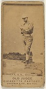 Duffy, Shortstop, Chicago, from the Old Judge series (N172) for Old Judge Cigarettes