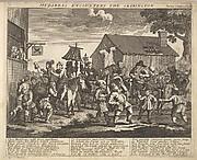 Hudibras Encounters the Skimmington (Plate 7: Illustrations to Samuel Butler's Hudibras)
