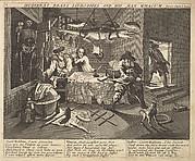 Hudibras Beats Sidrophel and His Man Wacum (Plate 8: Illustrations to Samuel Butler's Hudibras)