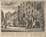 Burning the Rumps at Temple Bar (Plate 11: Illustrations to Samuel Butler's Hudibras)