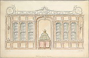 Design for the Wall of a Library in Rococo Style