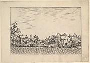 Farms, ploughed field in the foreground from Praediorum villarum et rusticarum casularum icones elenoantissimae ad vivum in apre deformatae