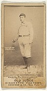 Amos Rusie, Pitcher, Indianapolis, from the Old Judge series (N172) for Old Judge Cigarettes