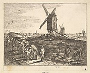 Landscape with Windmills and Cart