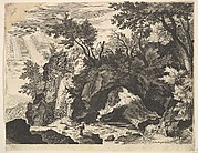 Rocky Landscape with the Stigmatization of St. Francis (reverse copy)