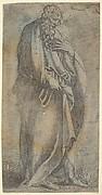 Heavily draped male Figure