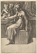 Seated Woman with two Children