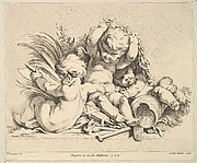Three Cupids with Military Trophies