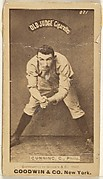 Thomas Francis Gunning, Catcher, Philadelphia, from the Old Judge series (N172) for Old Judge Cigarettes