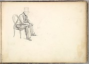 Man Seated on a Chair (in Sketch Book With Drawings on Twenty-six Leaves)