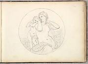 Venus and Cupid  (in Sketch Book With Drawings on Twenty-six Leaves)
