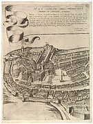 Plan of the City of Rome. Part 7 with a Dedication to Camillo Pamphili, the Vatican and Part of the City Wall