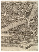 Plan of the City of Rome. Part 10 with the Tiber and the Villa Farnesina