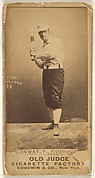 Pete Conway, Pitcher, Pittsburgh, from the Old Judge series (N172) for Old Judge Cigarettes