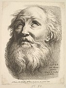 Frontispiece: Head of a Bearded Man, from Livre de Têtes Gravées d'apres F. Boucher et Autres (Book of Heads Engraved after F. Boucher and Others)