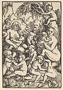 Two Mothers with Children (Die Kinderaue)