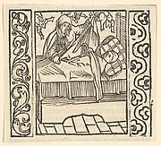 Caring for the Dead, illustration from Speculum Passionis, 1507