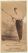 Al Maul, Pitcher, Pittsburgh, from the Old Judge series (N172) for Old Judge Cigarettes