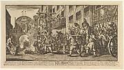 Burning the Rumps at Temple Bar (Twelve Large Illustrations for Samuel Butler's Hudibras, Plate 11)