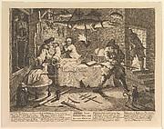Hudibras beats Sidrophel and his man Whacum (Twelve Large Illustrations for Samuel Butler's Hudibras, Plate 8)