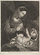 La Vierge adorent l'Enfant Jesus