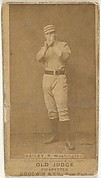 Edward M. Daily, Pitcher, Washington Nationals, from the Old Judge series (N172) for Old Judge Cigarettes