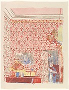 Interior with Pink Wallpaper I, from the series Paysages et Intérieurs