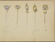 Five Designs for Gold Stickpins