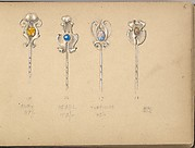 Four Designs for Silver Stickpins