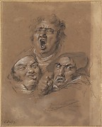 Study of Three Heads