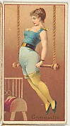 Gymnastic, from the Occupations of Women series (N502) for Frishmuth's Tobacco Company