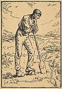 Man Resting on a Spade