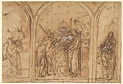 A Design for a Triptych with the Adoration of the Two Saints