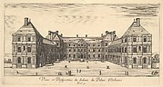 View and Perspective of the inside of the Palais d'Orleans, from 'Various views of remarkable places in Italy and France' (Diverses vues d'endroits remarquables d'Italie et de France)