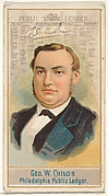 George W. Childs, Philadelphia Public Ledger, from the American Editors series (N1) for Allen & Ginter Cigarettes Brands