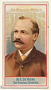 M.H. de Young, San Francisco Chronicle, from the American Editors series (N1) for Allen & Ginter Cigarettes Brands
