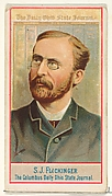 S.J. Flickinger, The Columbus Daily Ohio State Journal, from the American Editors series (N1) for Allen & Ginter Cigarettes Brands