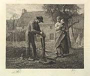 A Farmer Grafting a Tree
