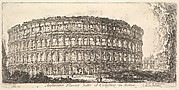 Flavian Amphitheater, called the Colosseum. 1. Arch of Constantine. 2. Palatine Hill. (Anfiteatro Flavio detto il Colosseo in Roma. 1. Arco di Costantino. 2. Monte Palatino.)