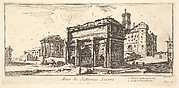 Arch of Settimius Severus 1. Temple of Concord. 2. Ascent to the Capitoline Hill (Arco di Settimio Severo. 1. Tempio della Concordia. 2. Salita di Campidoglio.)