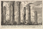 Seven columns of the Temple of Juturna with Corinthian capitals . . . (Sette colonne con capitelli corinti spettanti al Tempio di Giuturna . . .)