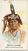 White Swan, Lower Yanktonas Sioux, from the American Indian Chiefs series (N2) for Allen & Ginter Cigarettes Brands